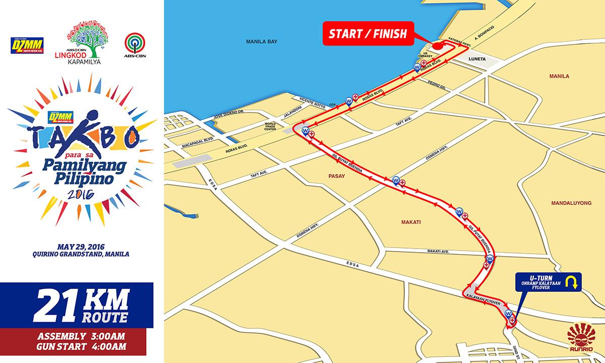 DZMM Takbo 21K Route
