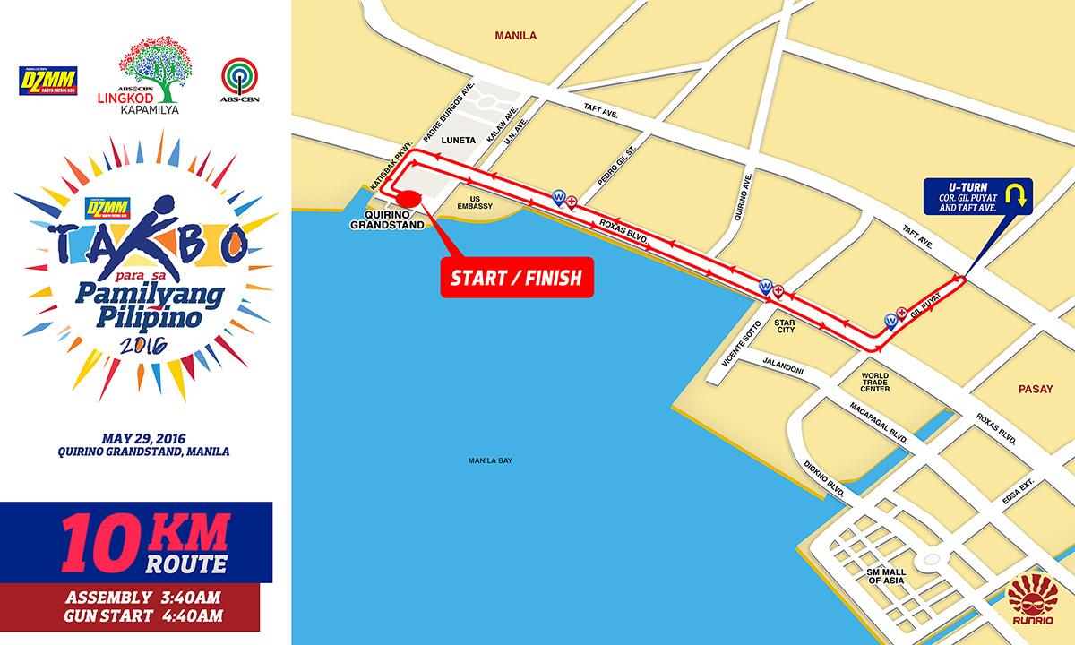 DZMM Takbo 10K Route
