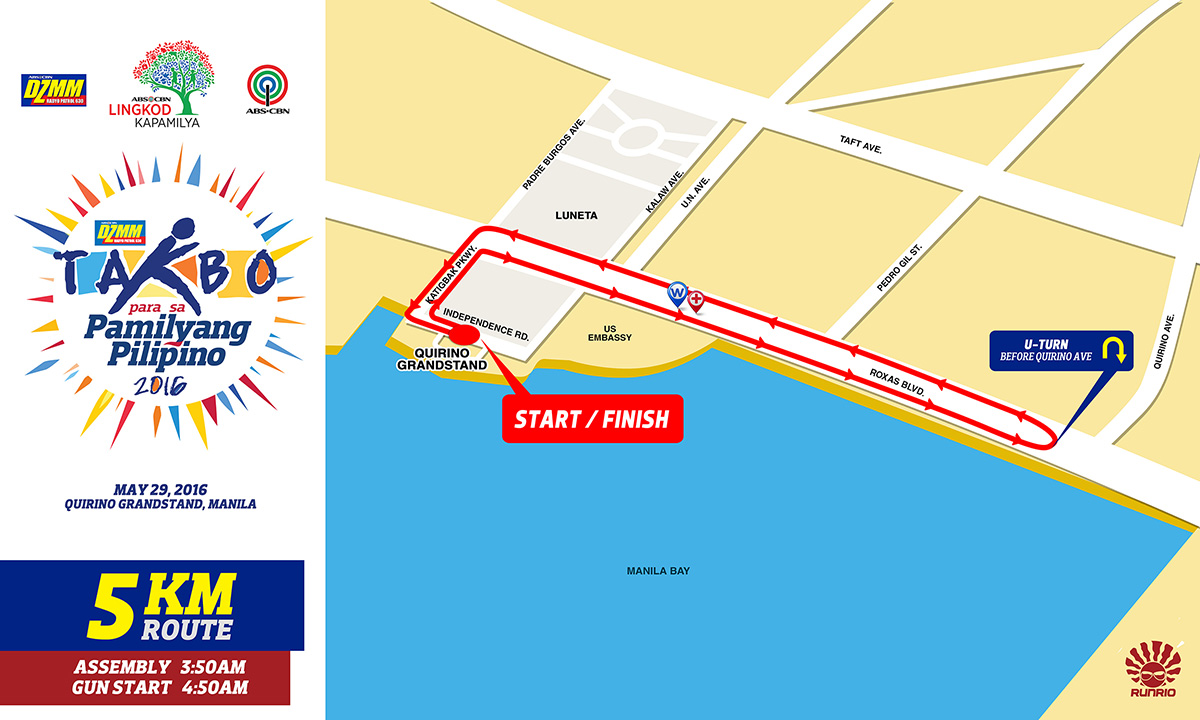 DZMM Takbo 5K Route